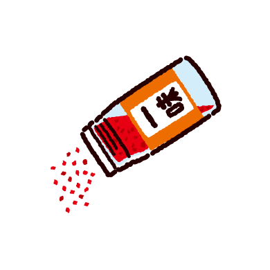 一味唐辛子のイラスト(2カット)