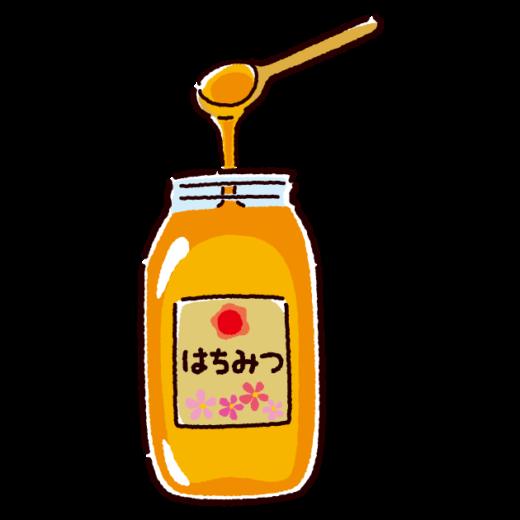 はちみつのイラスト(瓶入り)(2カット)