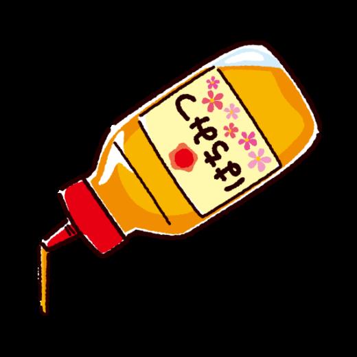 はちみつのイラスト(プラスチック容器)(2カット)