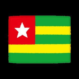 国旗のイラスト(トーゴ共和国)