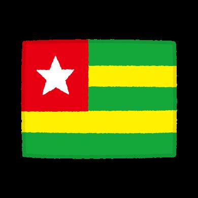 国旗のイラスト(トーゴ共和国)(2カット)
