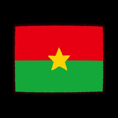 国旗のイラスト(ブルキナファソ)(2カット)