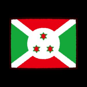 国旗のイラスト(ブルンジ共和国)