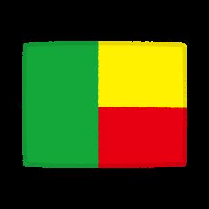 国旗のイラスト(ベナン共和国)