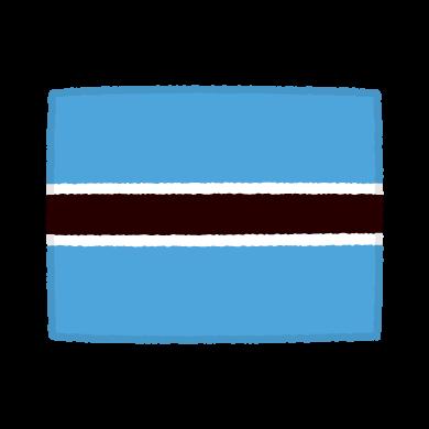 国旗のイラスト(ボツワナ共和国)(2カット)