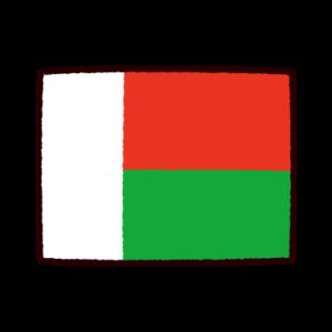 国旗のイラスト(マダガスカル共和国)