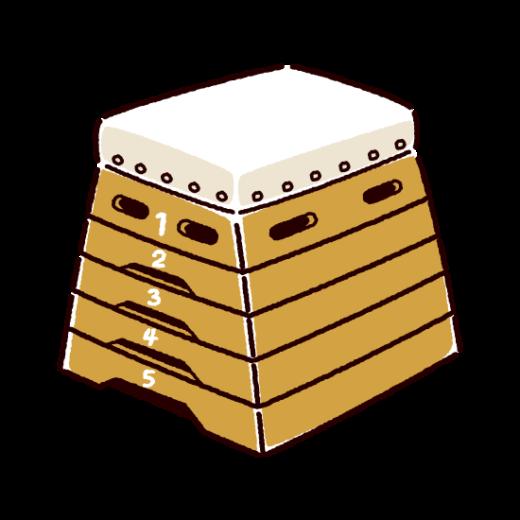 とび箱のイラスト(2カット)