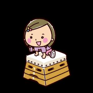 とび箱を跳ぶ子供のイラスト