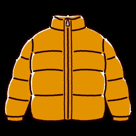 ダウンジャケットのイラスト(3カラー)