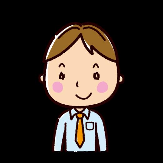 笑顔の男性のイラスト(ビジネスマン)(2カット)