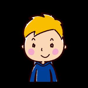 笑顔の若者のイラスト(男性)