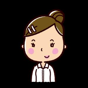 笑顔の女性のイラスト(OL)