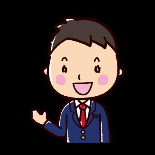 会話のイラスト(男性・ビジネスマン)(2カット)