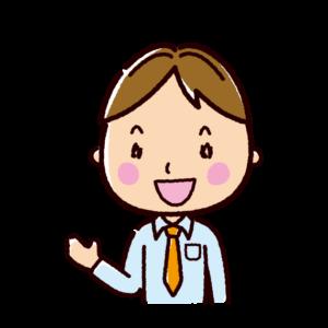 会話のイラスト(男性・ビジネスマン)