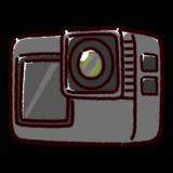 アクションカメラのイラスト
