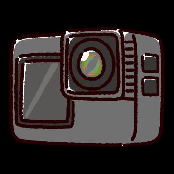 アクションカメラのイラスト(2カット)