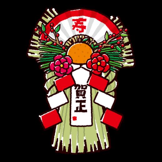 しめ飾りのイラスト(2カット)