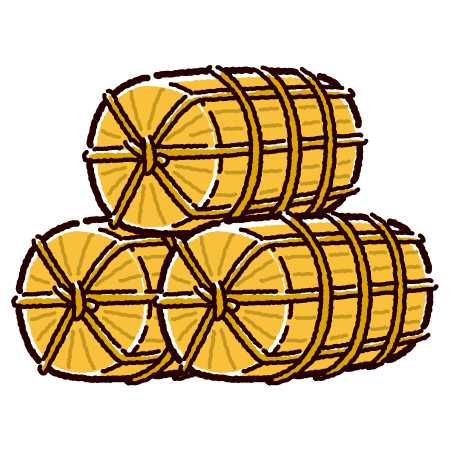 米俵のイラスト(2カラー)