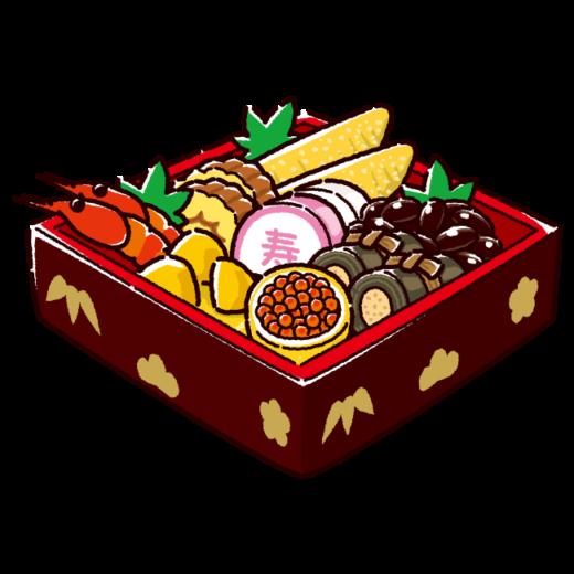おせち料理のイラスト(2カット)