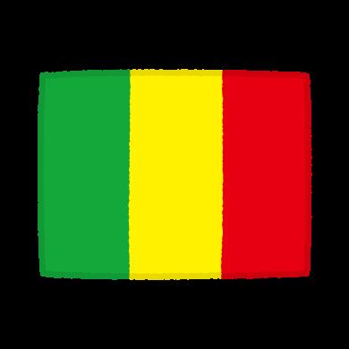 国旗のイラスト(マリ共和国)(2カット)