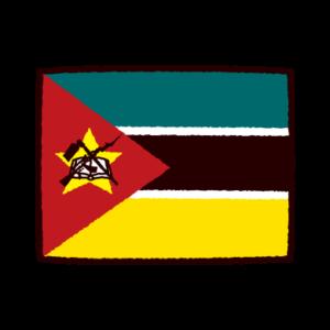 国旗のイラスト(モザンビーク共和国)
