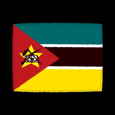国旗のイラスト(モザンビーク共和国)(2カット)