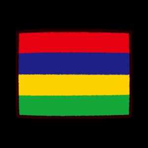 国旗のイラスト(モーリシャス共和国)