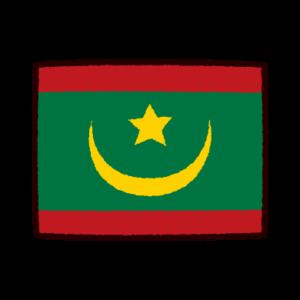 国旗のイラスト(モーリアニア・イスラム共和国)