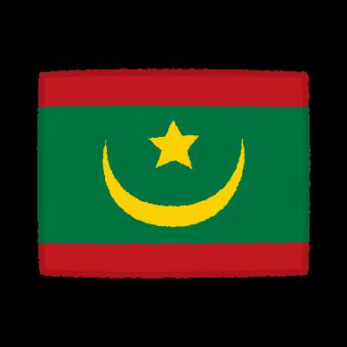 国旗のイラスト(モーリアニア・イスラム共和国)(2カット)