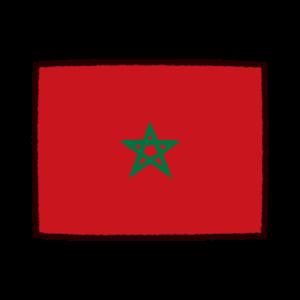 国旗のイラスト(モロッコ王国)