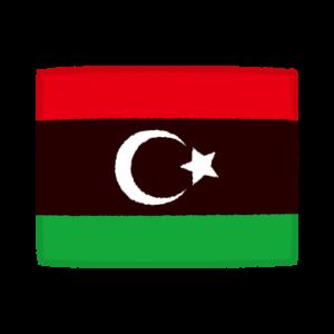 国旗のイラスト(リビア国)