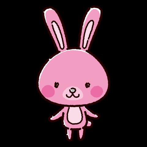 かわいいうさぎのキャラクターイラスト(3カラー)