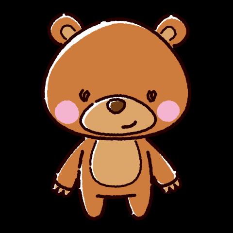 かわいいくまのキャラクターイラスト(3カラー)