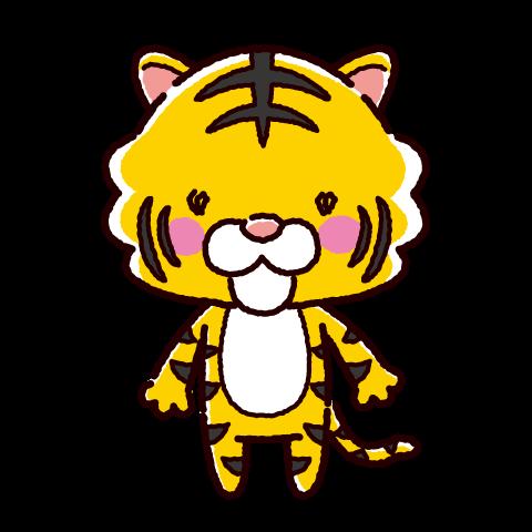 かわいいトラのキャラクターイラスト(寅・2022年干支)(2カラー)