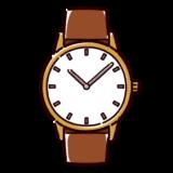 腕時計のイラスト(革バンド)