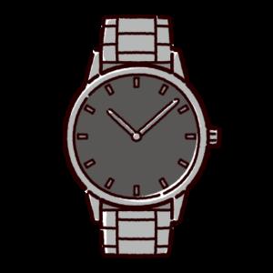腕時計のイラスト(メタルバンド)