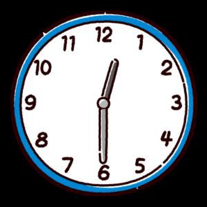 時計のイラスト(0時半)