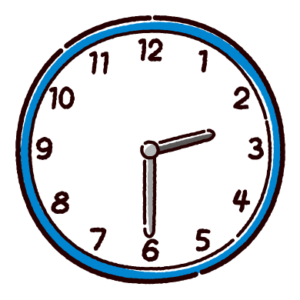 時計のイラスト(2時半)