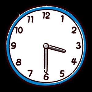 時計のイラスト(3時半)