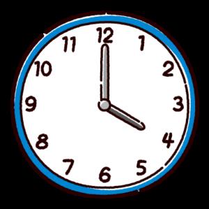 時計のイラスト(4時)