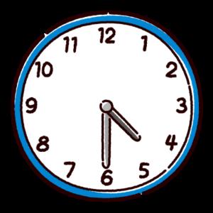 時計のイラスト(4時半)