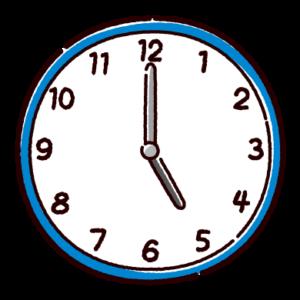 時計のイラスト(5時)