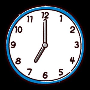 時計のイラスト(7時)
