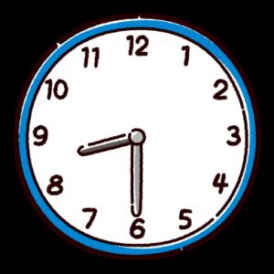 時計のイラスト(8時半)