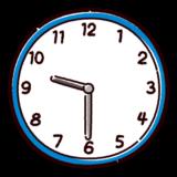時計のイラスト(9時半)