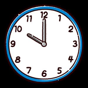 時計のイラスト(10時)