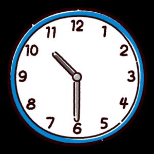 時計のイラスト(10時半)