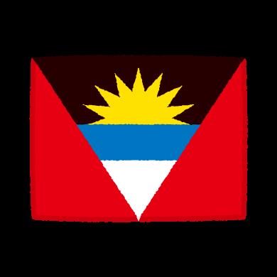 国旗のイラスト(アンティグア・バーブーダ)(2カット)