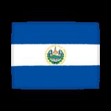 国旗のイラスト(エルサルバドル共和国)