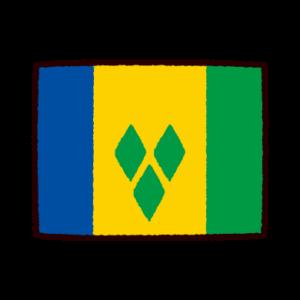 国旗のイラスト(セントビンセント及びグレナディーン諸島)
